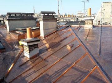 renovation toiture cuivre Etoile Paris